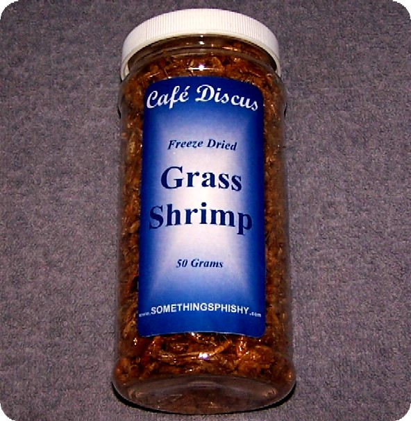 Freeze Dried Grass Shrimp   50 grams/16 fl. oz. ctr.